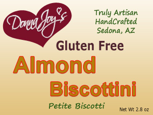 Donna Joy's Gluten Free Biscottini Almond petite biscotti. Simply Addictive!