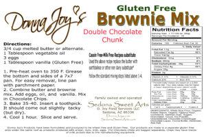 Brownie Ingredients & Directions