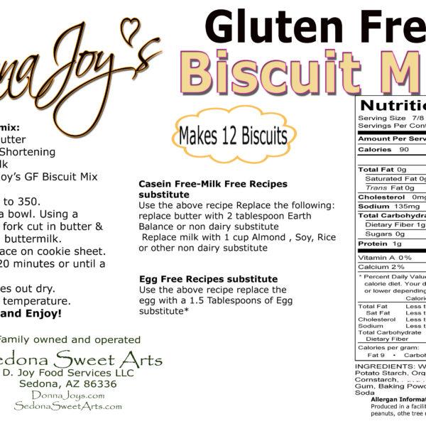 Gluten Free Biscuit Mix Ingredients & Directions