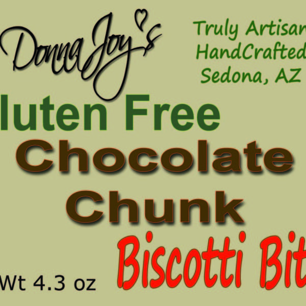 Donna Joy's Gluten Free Biscotti Bites Chocolate Chunk