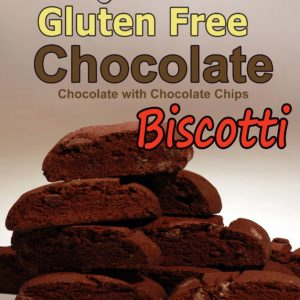 Biscotti, GLUTEN FREE Chocolate Bulk pack 20-25 count, 1 LB 4 oz