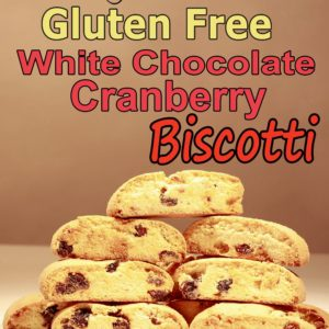 Biscotti, GLUTEN FREE White Chocolate Cranberry Bulk pack 20-25 count, 1 LB 4 oz