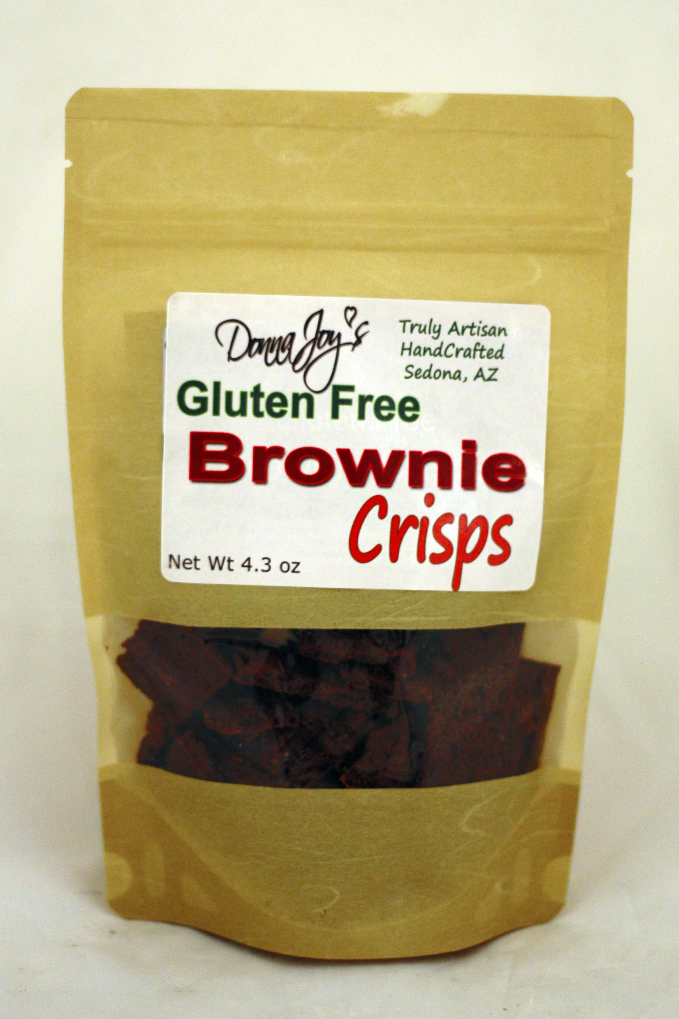 Gluten Free Brownie Crisps pack | Donna Joy\'s Sedona Sweet Arts