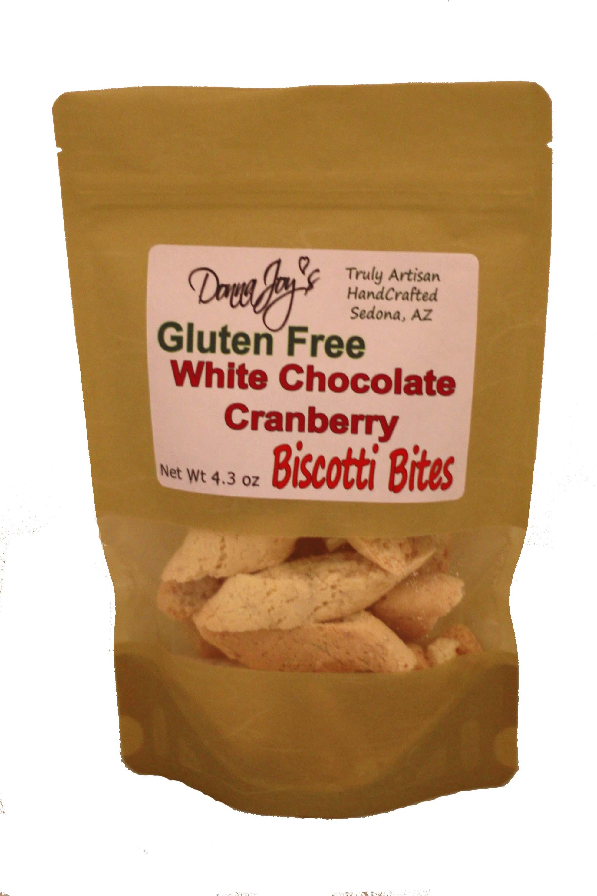 Donna Joy' s White Chocolate Cranberry Gluten Free Biscotti