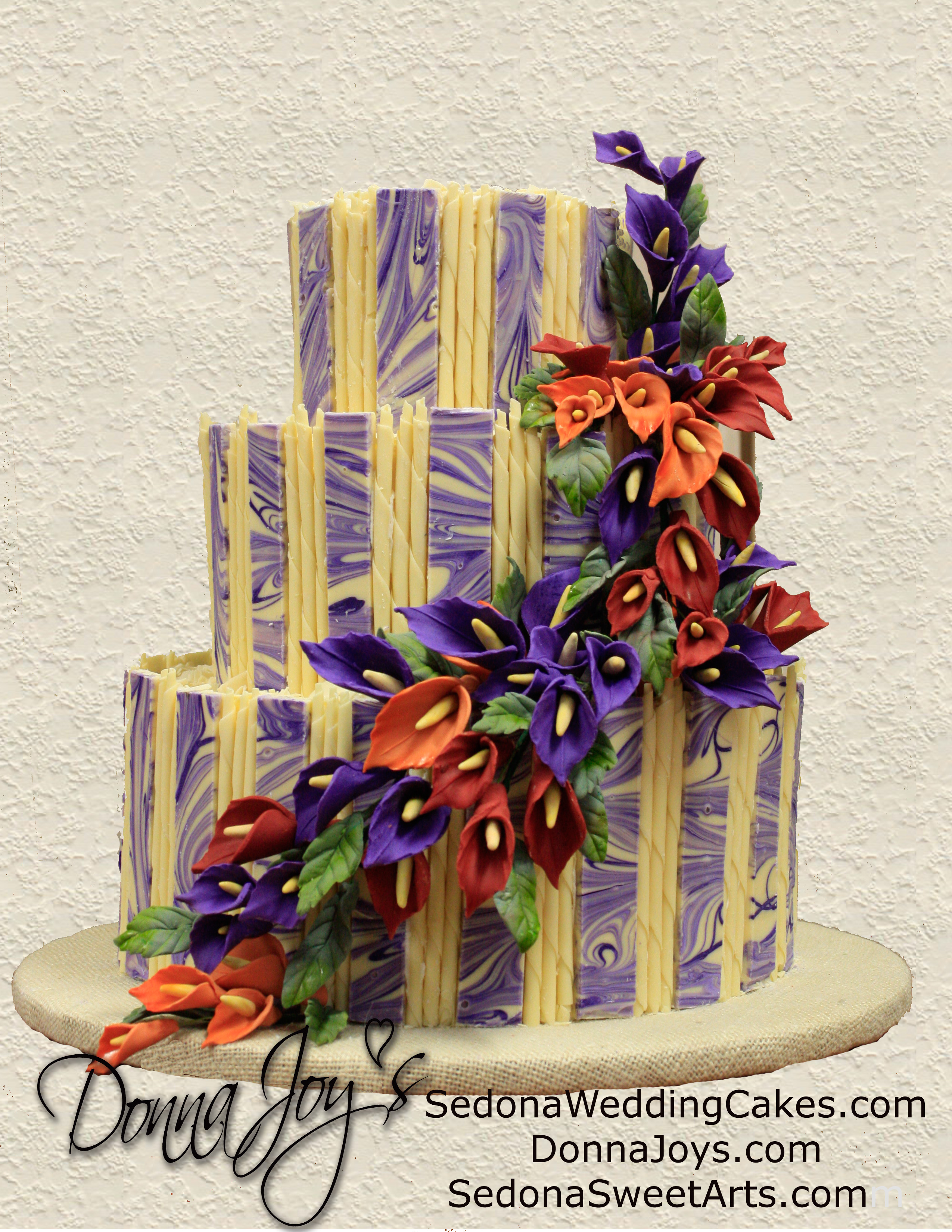 White Chocolate Panel Wedding Cake