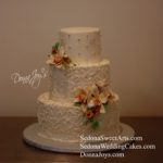 Custom Buttercream Wedding Cakes by Pastry chef Donna Joy