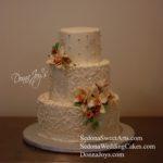 Custom Buttercream Wedding Cakes by Pastry chef Donna Joy