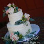 Tuscan Waves Buttercream Wedding Cake Sedona