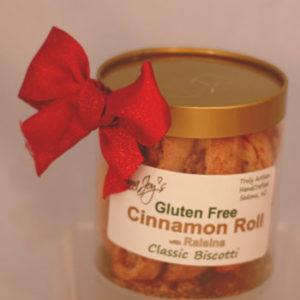 Cinnamon Roll w/raisins Gluten Free Gold Gift Container