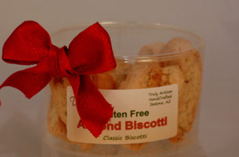 Gluten Free almond biscotti Oval Gift Container