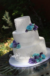 Angle Tuscan buttercream Wedding Cake Donna Joy Sedona Sweet Arts