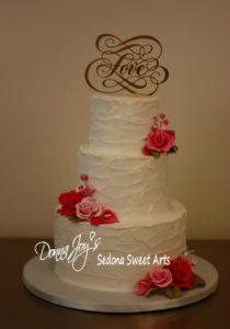 buttercream tuscan waves Wedding cake