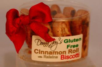 Cinnamon Roll w/ raisins Gluten Free Biscotti