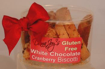 White Chocolate Cranberry Gluten Free Biscotti