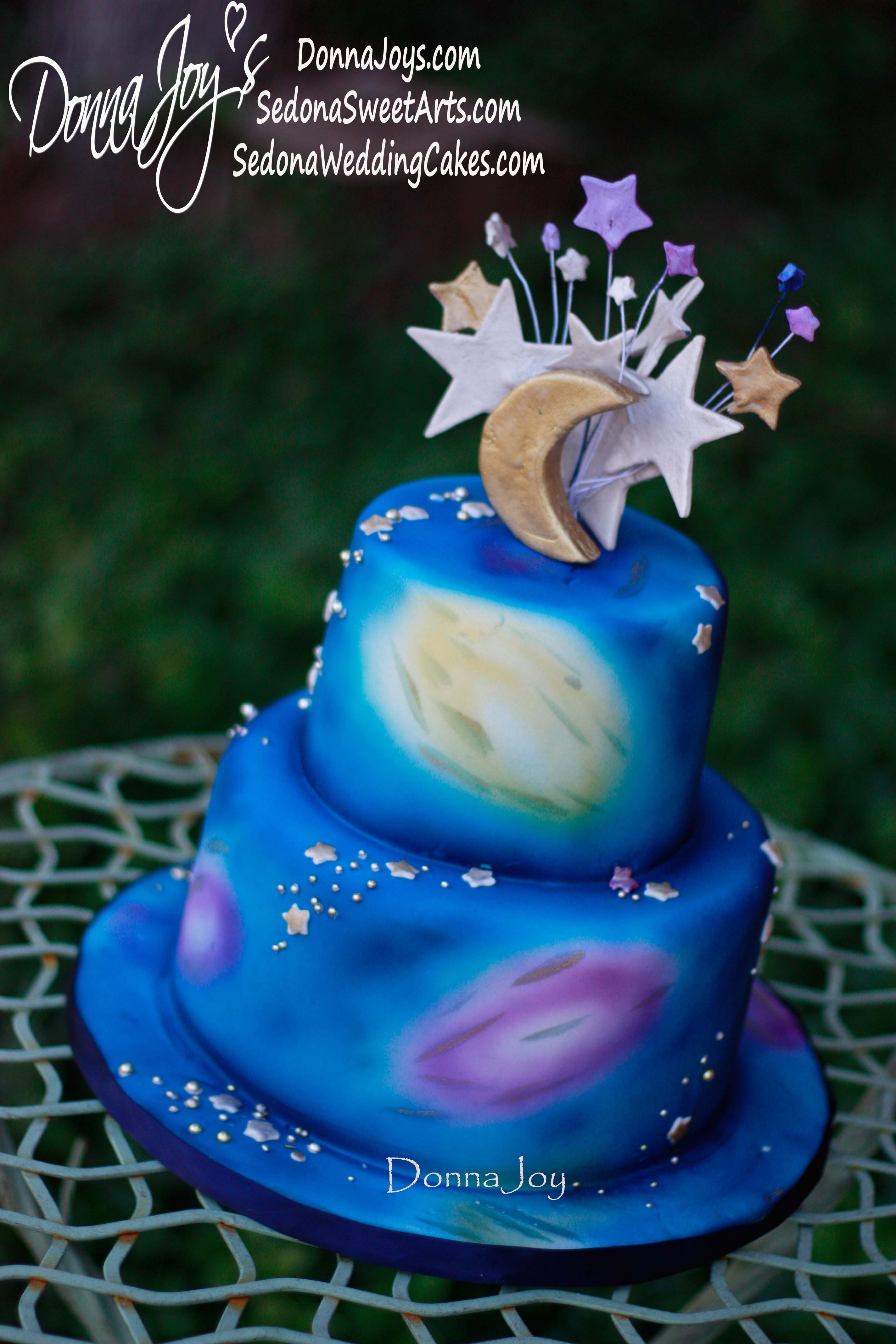 Starry Cosmic Love Union, wedding, cakes, cakes, gluten free